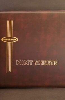 Supersafe mint sheet album - red